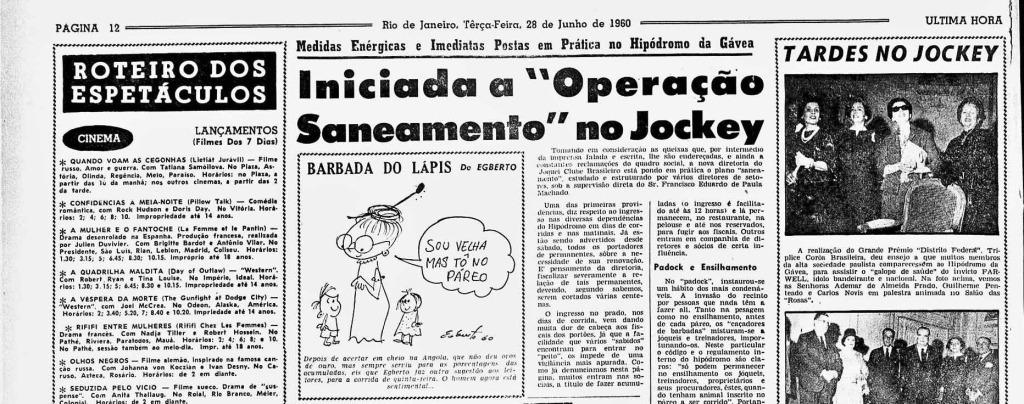 Última Hora 28/06/1960