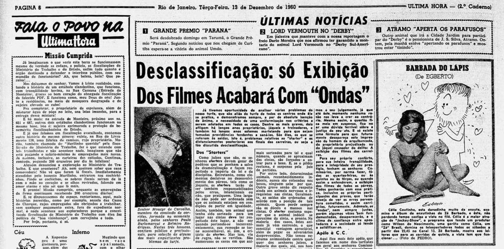 Última Hora 13/12/1960