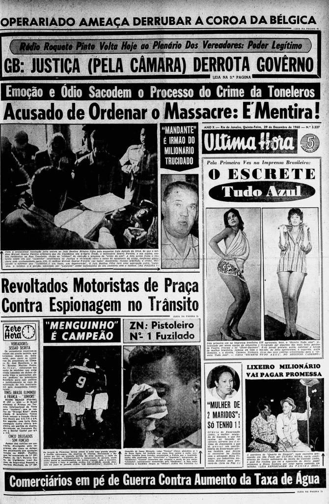 Última Hora 29/12/1960
