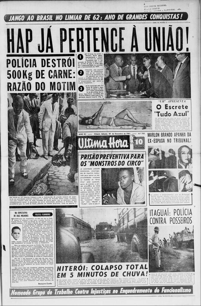 Última Hora 30-12-1961