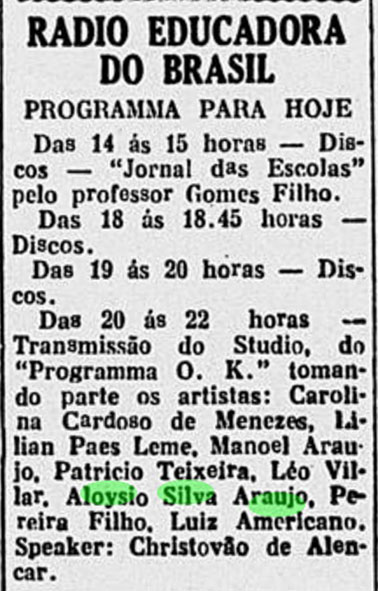 1933 Aloysio programa OK