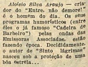 1945 Aloysio entra não demora fon fon
