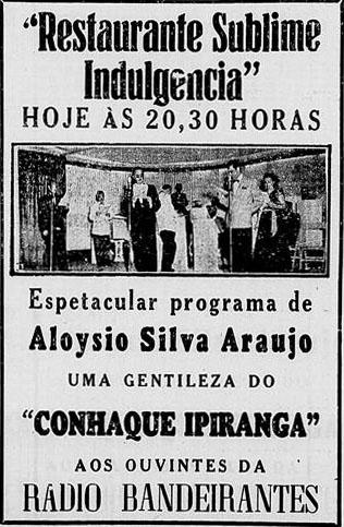 1949 Aloysio na band restaurante  jornal de notícias