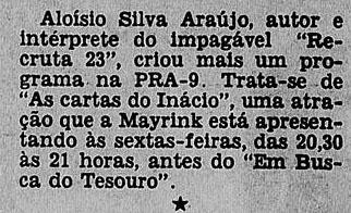 1951 Sloysio cartas para Inácio