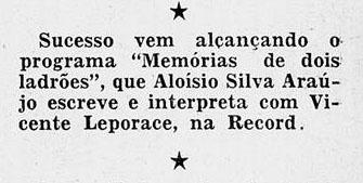 1952 Aloysio e Leporace na record