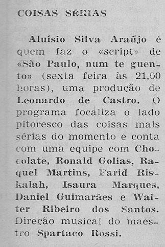 1957 Aloysio SP num te guento  Chocolate Farid Golias Walter Ribeiro - Cópia (30499225)
