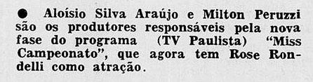 1958 Aloysio e Peruzi miss campeonato