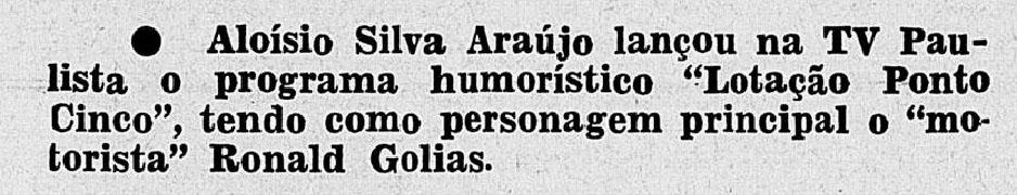 1959 aLOYSIO E gOLIAS