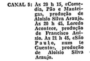 1960 Produções de Aloysio em 1960