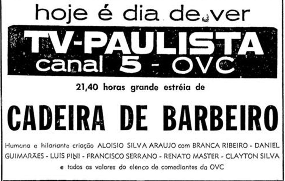 1963 Cadeira de Barbeiro - Folha SP 11-09-1963