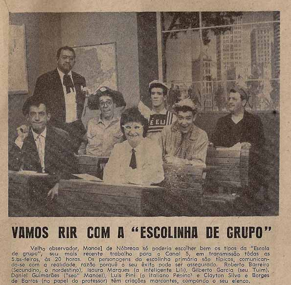 Escolinha de Grupo - 1962 TV Paulista