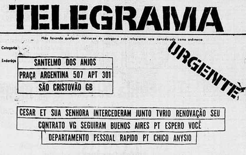 1964 Santelmo telegrama