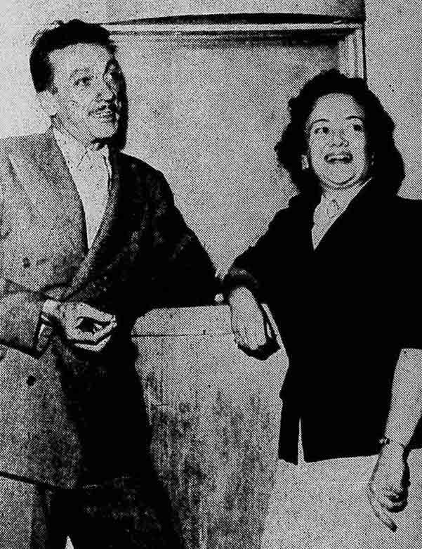 Adoniran (Charutinho) e Maria Amélia (Pafunça) 1957