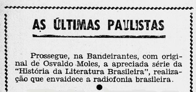 Revista do Rádio 1954