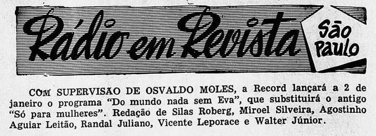 Revista do Rádio 1955