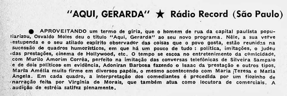 Revista do Rádio 1961