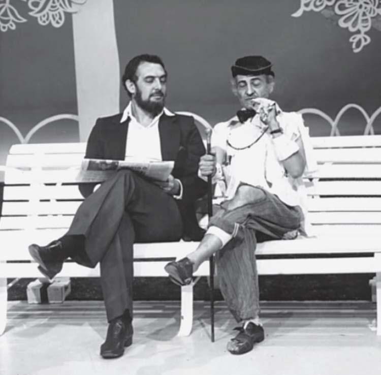 Luís Carlos Miele e Jorge Loredo - Praça da Alegria - TV Globo - 1977