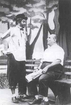 Jorge Loredo e Manoel de Nóbrega na Praça
