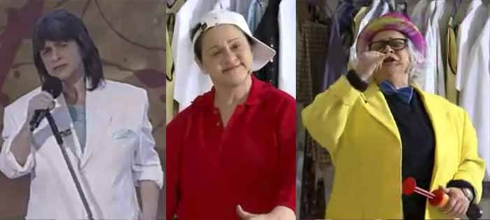 Fafy Siqueira imitando Roberto Carlos, Golias e Chacrinha