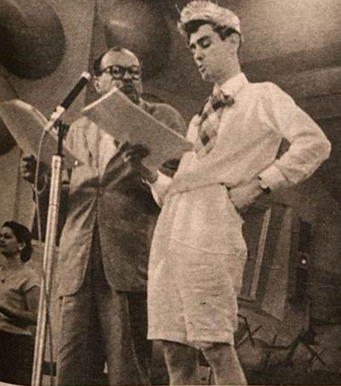Tutuca e Otávio França na Rádio Tupi - 1957