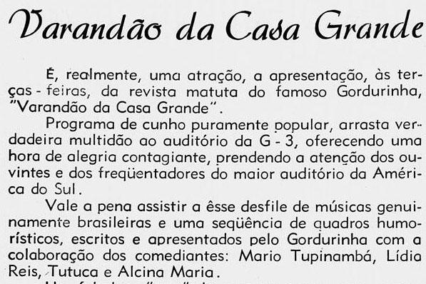 1958 Tutuca Varandão
