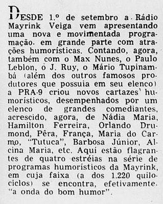 1958 Tutuca na Mayrink