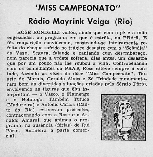 1959 Tutuca no Miss Campeonato