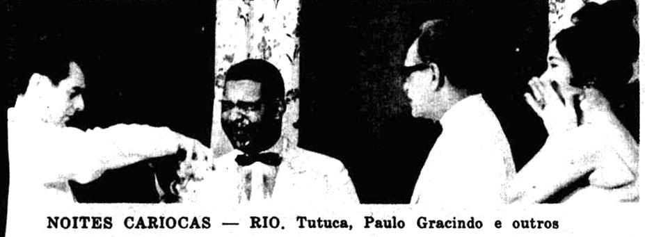 Tutuca e Paulo Gracindo em Noites Cariocas - 1964