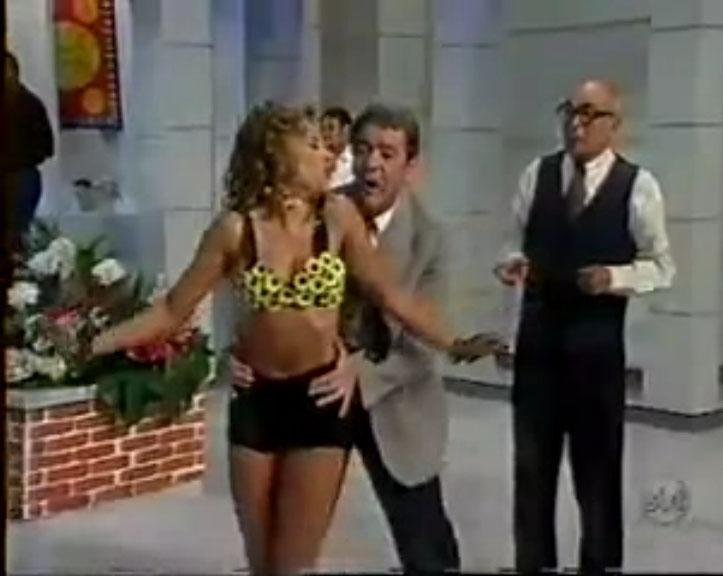 """Tutuca, Marriete e Aldo César no quadro do """"Chefinhoi"""" - A Praça é Nossa"""